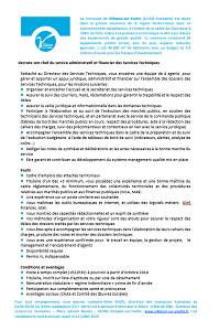 CHEF DU SERVICE ADMINISTRATIF ET FINANCIER DES SERVICES TECHNIQUES