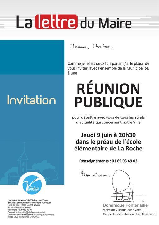 Réunion publique - juin 2016
