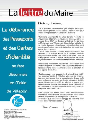 Délivrance des passeports et cartes d'identité - avril 2018