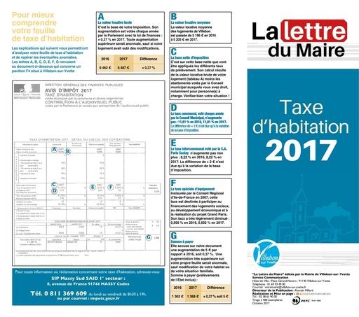 Taxe d'habitation - octobre 2017