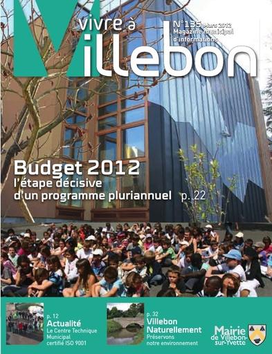 Vivre à Villebon n°135 - mars 2012