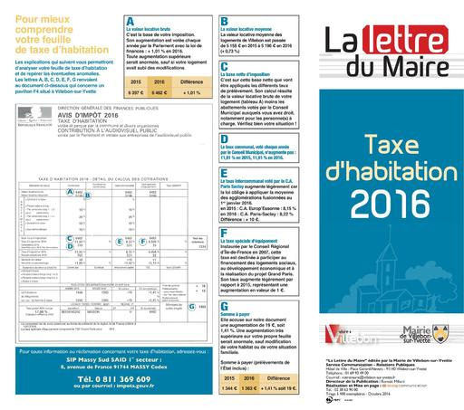 Taxe d'habitation - octobre 2016
